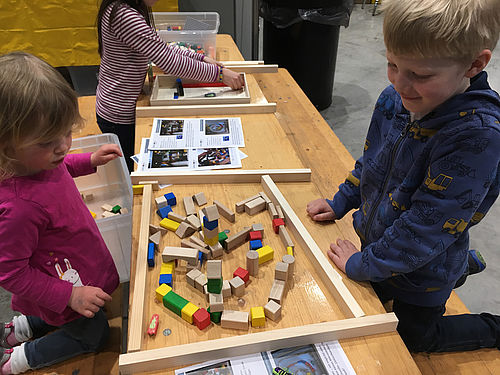 Kita-Kinder forschen bei den Science Days